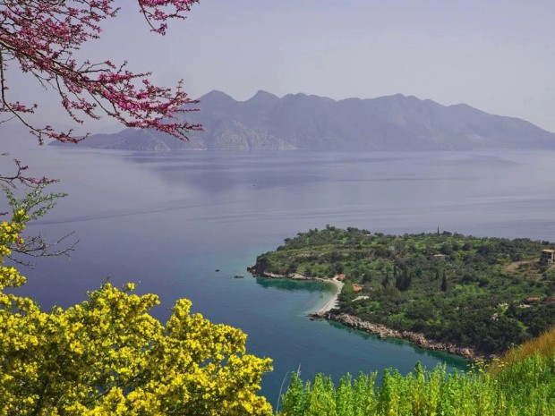 View to the Methana volcanic peninsula, Greece