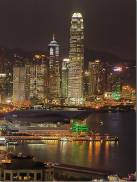 Hong Kong by Day to Night, Time-Shifting Photo