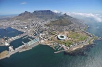 Incredible aerial view of Cape Town, South Africa
