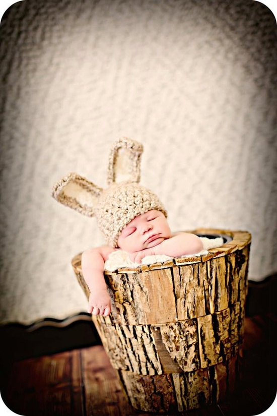 Newborn Baby Photo Prop Bunny Ears Hat