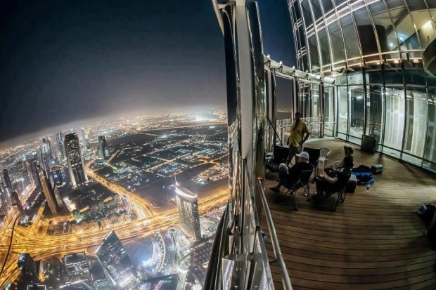 View from Burj Khalifa, UAE