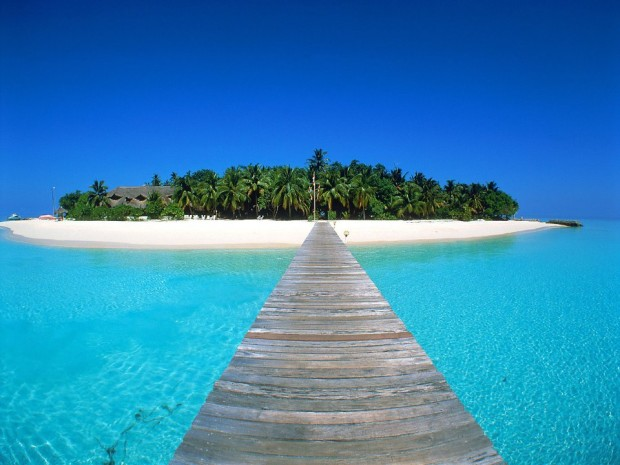 Wonderful view of Maldive Islands