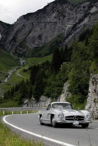 Classic Car Rally in Lech am Arlberg, Vorarlberg , Austria