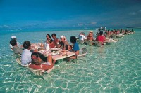 Only in Bora Bora, Water Dining