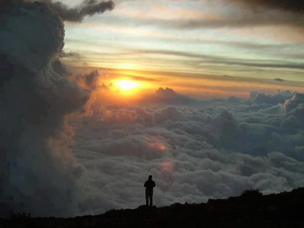Standing above the clouds for sun rise is breathtaking