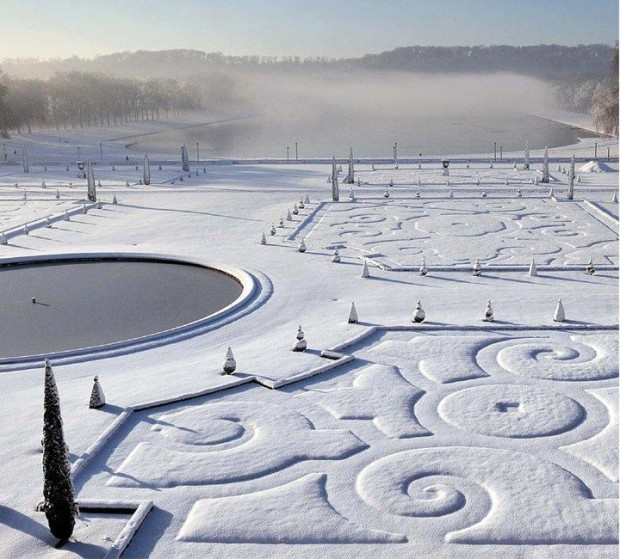 Winter in Versailles, France