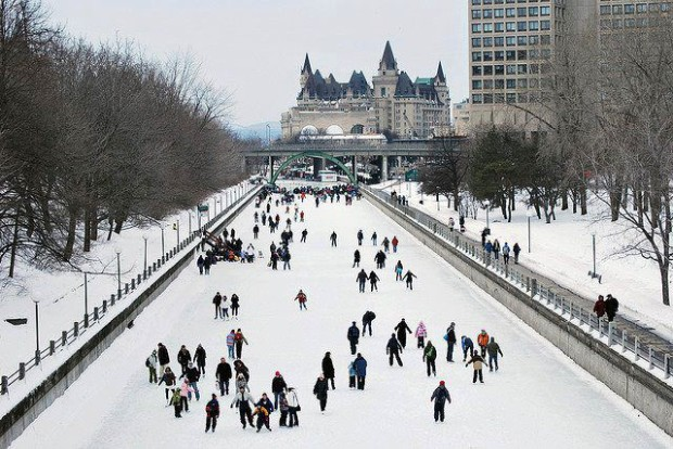 A highlight of winter in Ottawa, Canada is the Rideau Canal Skateway , the world's largest skating rink
