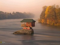 A river house in Serbia