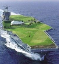 Amazing Ship with a huge golf course