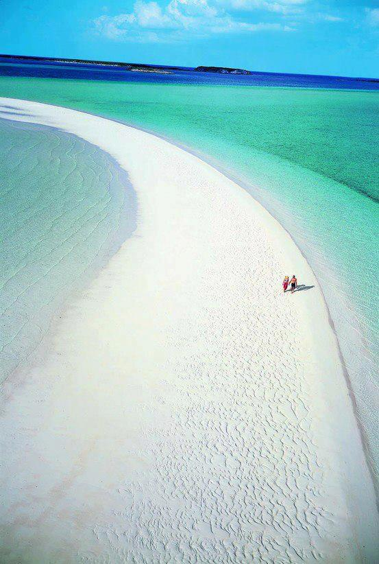 Breathtaking view of Musha Cay , Bahamas