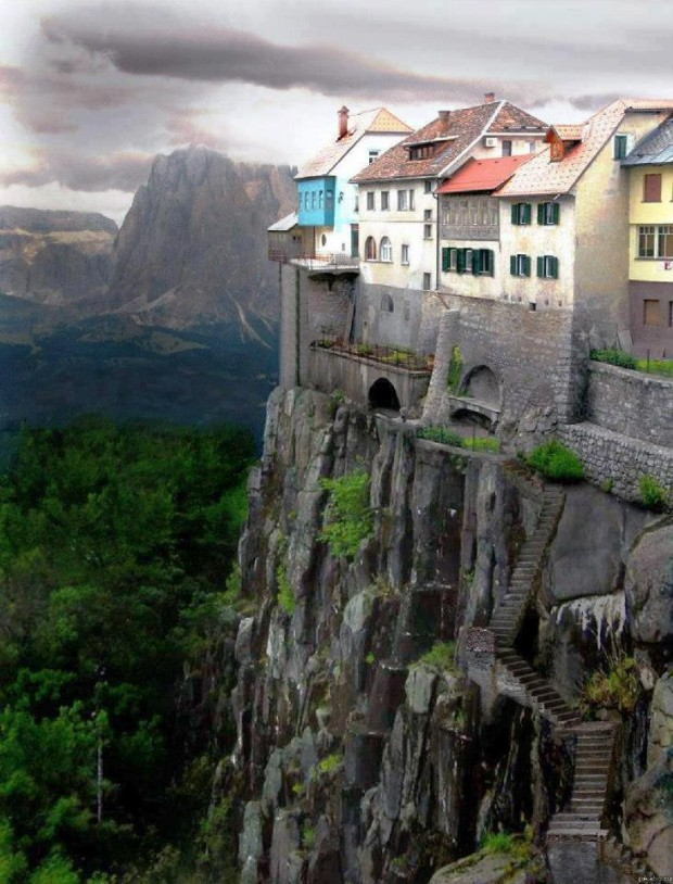 Cliff-side Dwellings of Ronda , Spain