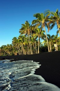 Deep Black Sand, Punaluu Beach, Hawaii