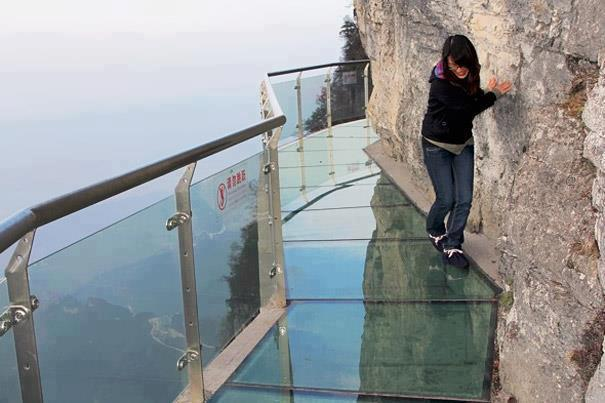 Glass Pavement for Tourists Built on 4,690 ft mountain in China