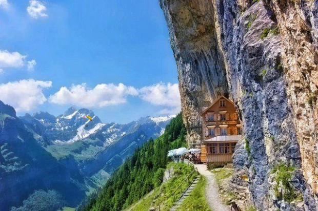 House in the Alpes , Switzerland