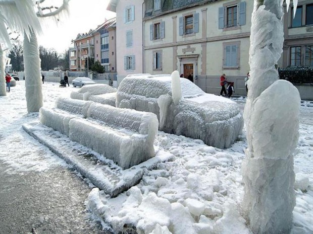 Ice Storm over Geneva, Switzerland