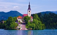 Lake Bled is a glacial lake in the Julian Alps in northwestern Slovenia