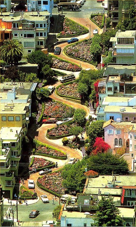 Lombard Street is in San Francisco, USA