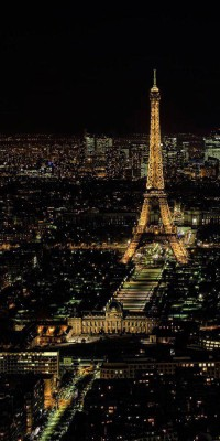 Paris at night, France