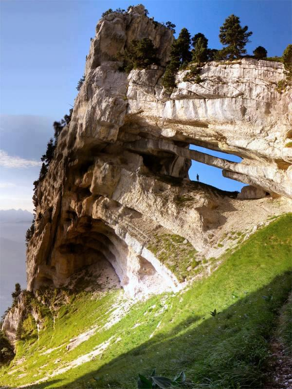 Rare rock formation in France