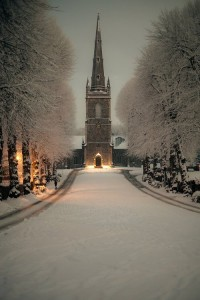 Snowy Night , Hillsborough , Northern Ireland