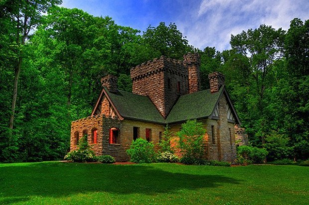 Squire's Castle , Willoughby Hills , Cleveland Metroparks , Ohio , USA