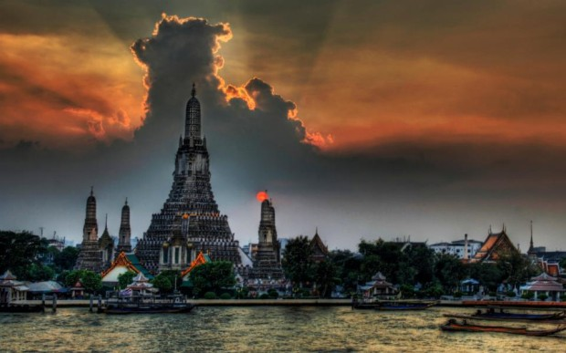Sunset in Bangkok , Thailand