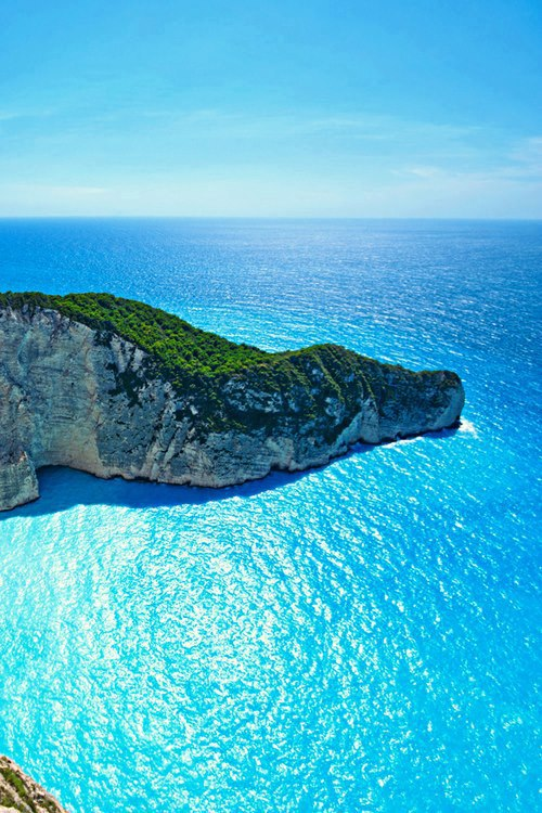 The Ocean Blue , Navagio Bay , Greece