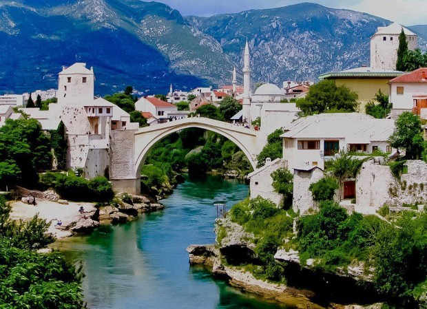 The Old Bridge , Mostar , Bosnia and Herzegovina