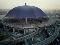 The largest umbrella in the world , Gansu Province , China