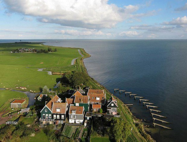 The small hamlet of Rozewerf on Marken Island, Netherlands