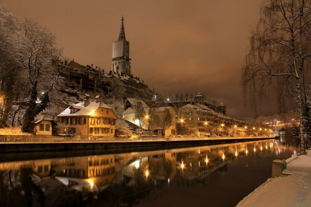 Winter's Night , Bern , Switzerland