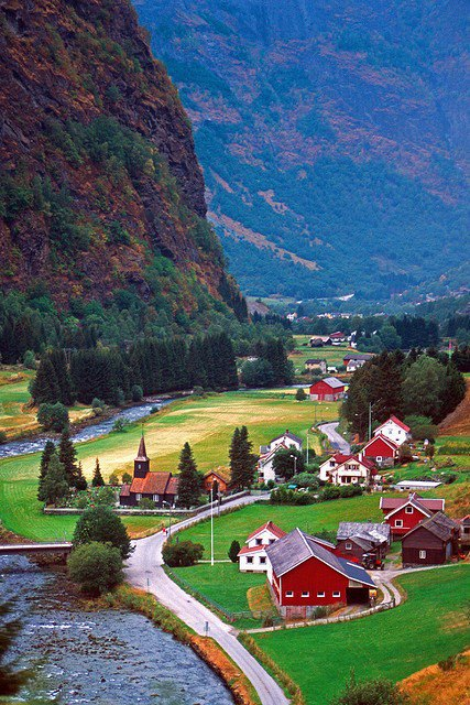 Wonderful Village in Sweden