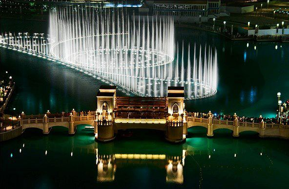 World's most amazing fountain, Dubai, UAE