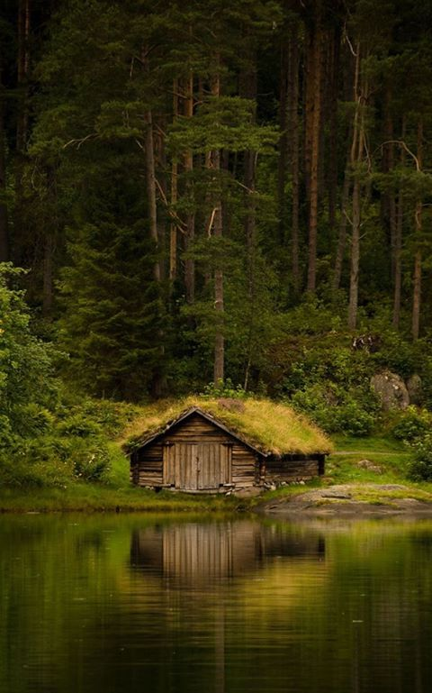 250 year old farm house in the Norwegian woods