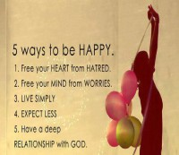 5 WAYS TO BE HAPPY
