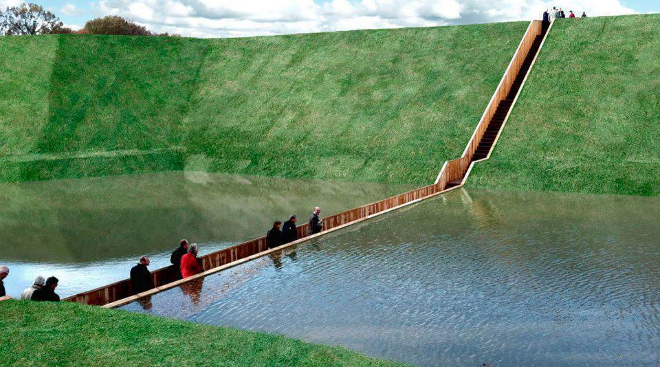 Amazingly Splits Water, Moses Bridge, The Netherlands