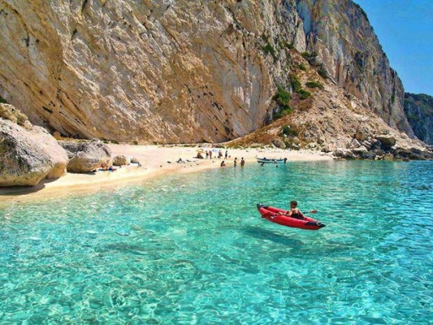 Aspri Ammos Beach, Othoni Island, Greece