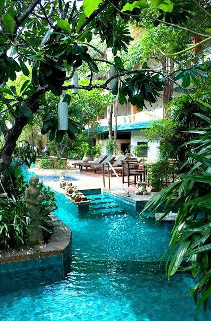 Lazy River in the Backyard, Citin Garden Resort Hotel Pattaya, Thailand