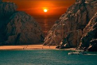 Sunset at Cabo San Lucas Beach , Mexico