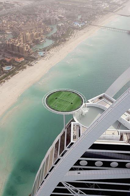Tennis Court, Burj Arab, Dubai, UAE