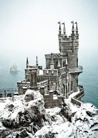The Swallow's Nest near Yalta on the Crimean peninsula in southern Ukraine