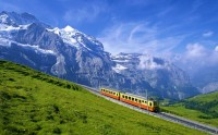 Train in Jungfrau, Bernese Alps, Switzerland