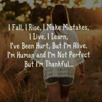 I fall, I rise, I make mistakes, I live, I learn ..
