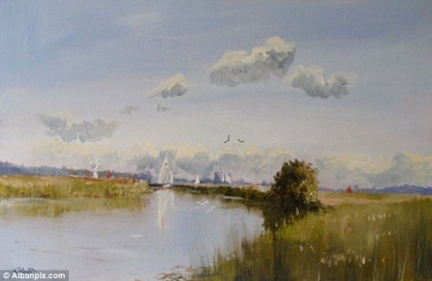 Future: Kieron has used his earnings from his paintings to buy a £150,000 house in Ludham on the Norfolk Broads which he plans to convert into an art gallery