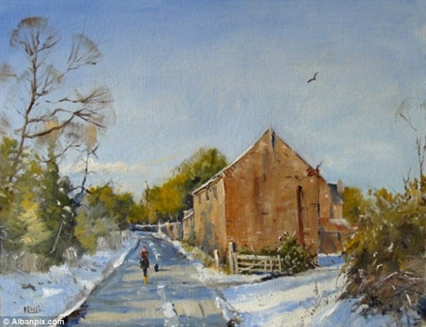 Career: Kieron Williamson finishes primary school this week and will be home-taught in future so he can dedicate more time to his painting