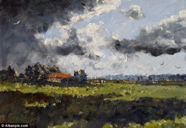 Strong endorsement: A senior figure at the Royal Institute of Oil Painters described Kieron as the future of oil painting in the UK