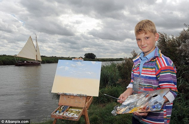 Schoolboy dubbed 'Mini Monet' (10 years) Winning millions of creativity draw paintings