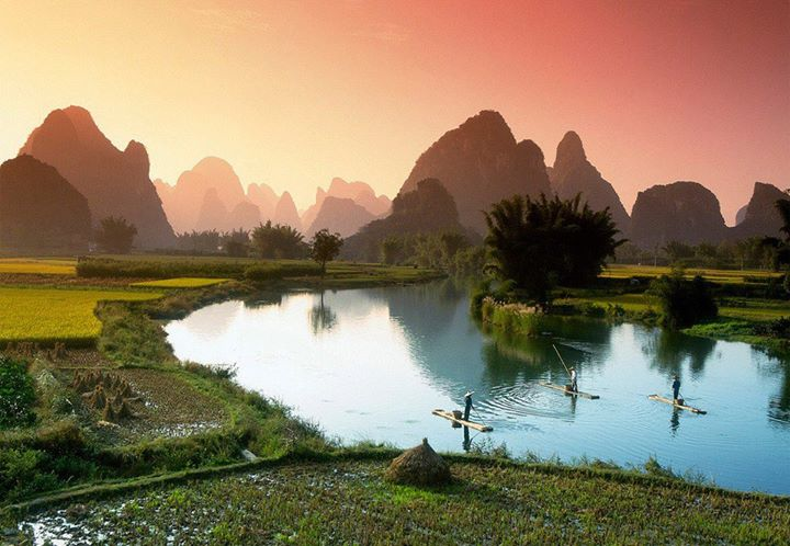 Fishing on the Li river, China