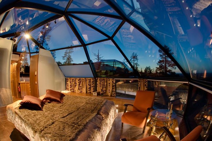 Night under the stars, Hotel Kakslauttanen, Finland