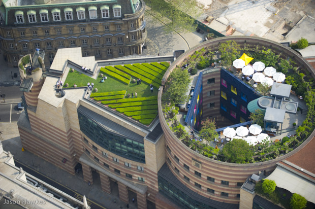 Roof gardens in London, England